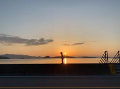 内入の夕陽