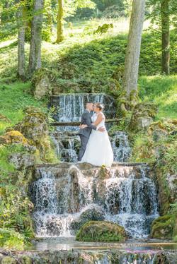 photo mariés cascade