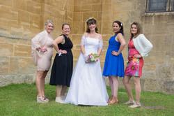 photo mariage groupe témoins
