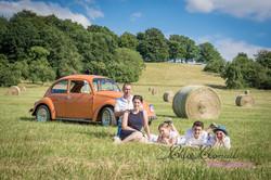 portrait famille voiture WW Cox ardennes