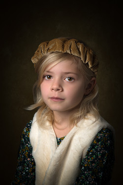 portrait d'art fillette 6ans