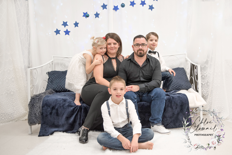 famille portrait noel