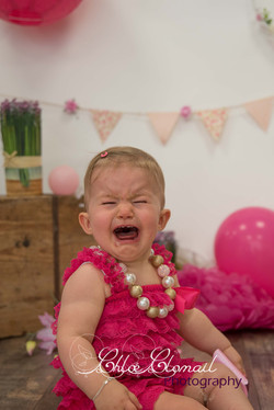 smash cake pleurs