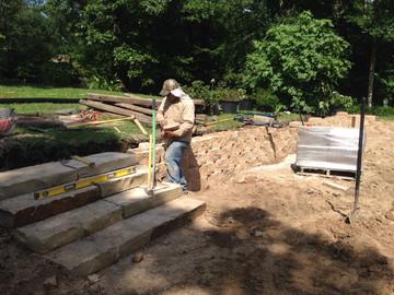 Flagstone Step Install