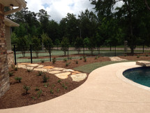 East Texas pool back yard landscape