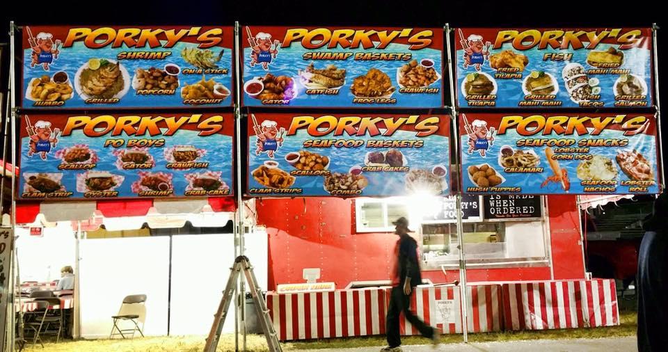 Porky's Seafood Banners