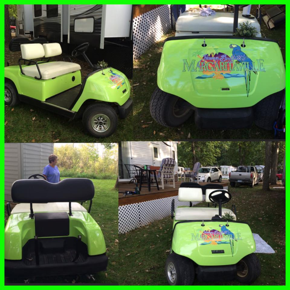 Margaritaville Golf Cart