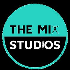The Mix Studios Logo Circle Bluer color