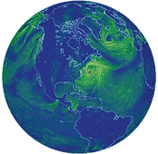 visualization of global weather conditions forecast by supercomputers