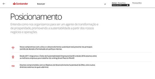 Portal de Sustentabilidade - Santander