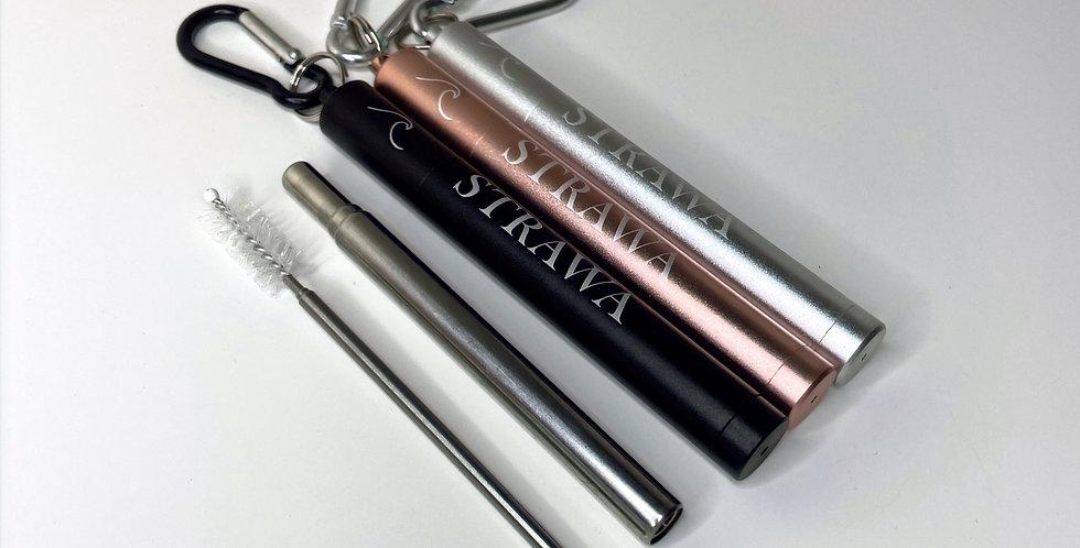 Silver Telescopic Straw Set