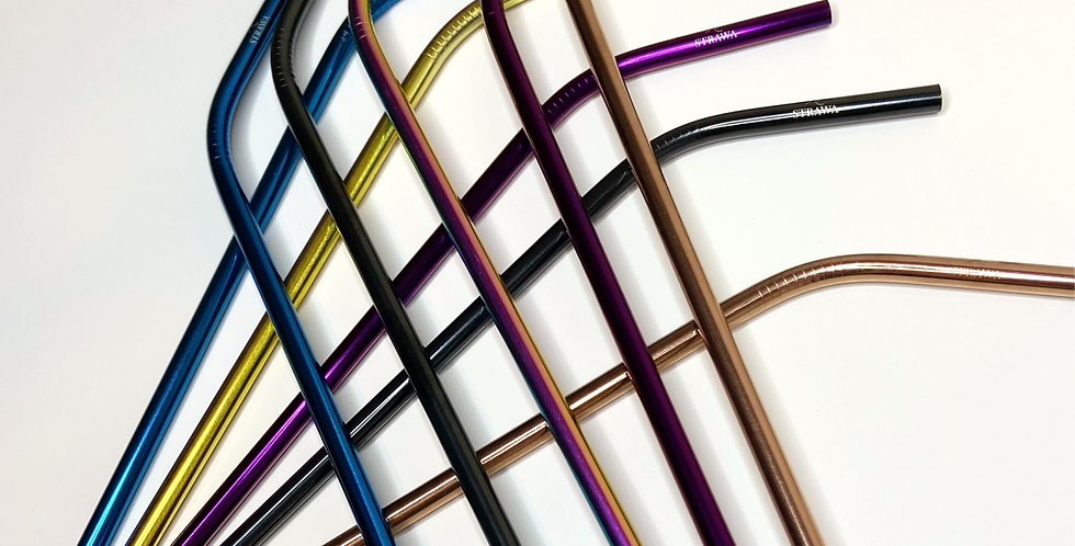 Stainless Steel Straws - Curved