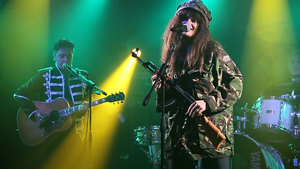 Nade and Greg during Army Dreamers. Katew Bush Tribute.