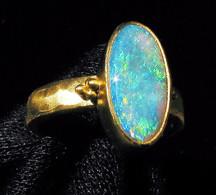 Mintabie Opal Ring