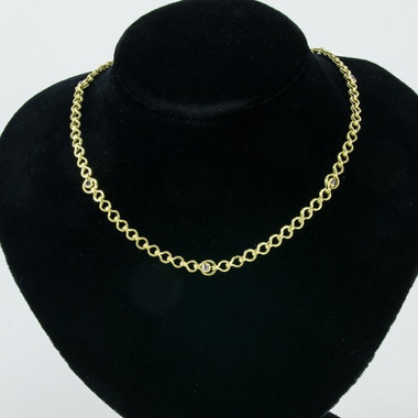 Elisabeth's Planished Roman Chain with Rose Cut Diamonds
