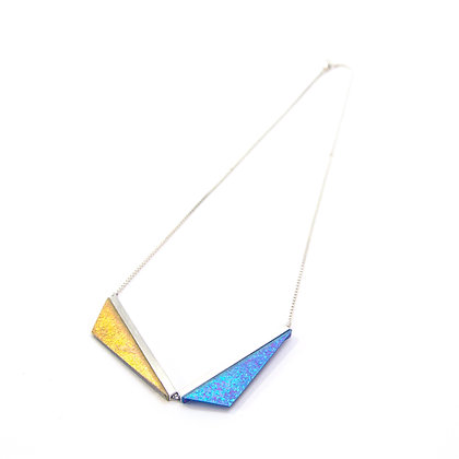 Double Kite Necklace - Golden + Galactic