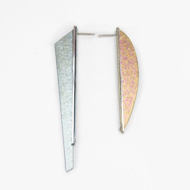 Long Kite + Long Curve - Aqua + Peachy