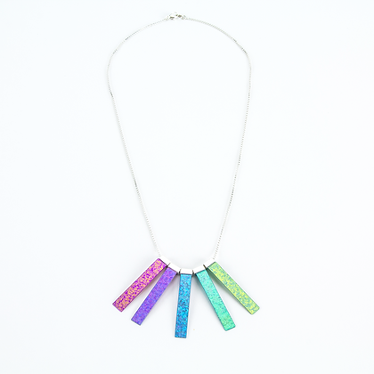 5 Beam Necklace - Glow to Earthling Fade