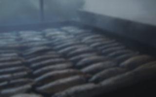 手火山式 焙乾作業