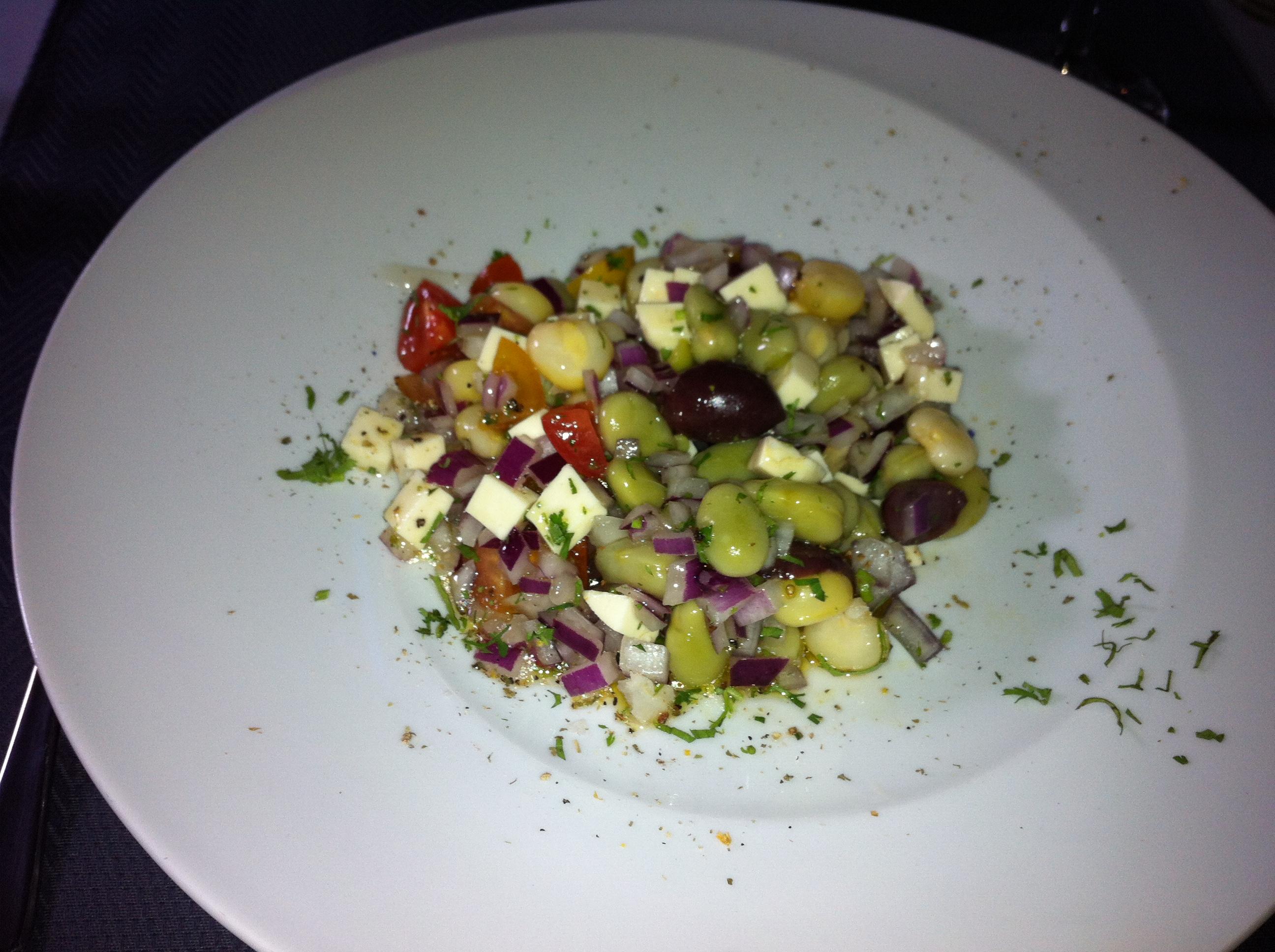 Peruanischer Bohnensalat