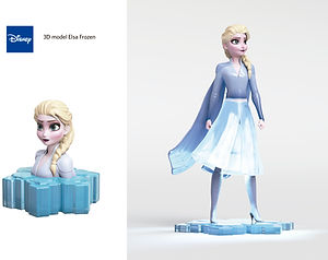 disney protopenedes 3D model frozen