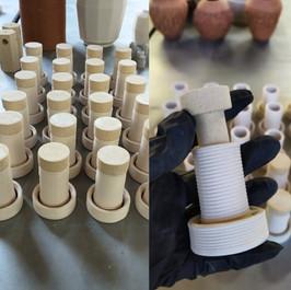 barcelona 3D Ceramics / Alumina, gres / BinderJetting  + LDM / Ingnieria