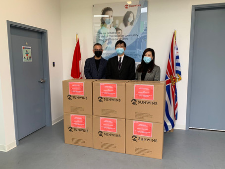 15,000 Masks Donated to the Tzu Chi Foundation of Canada