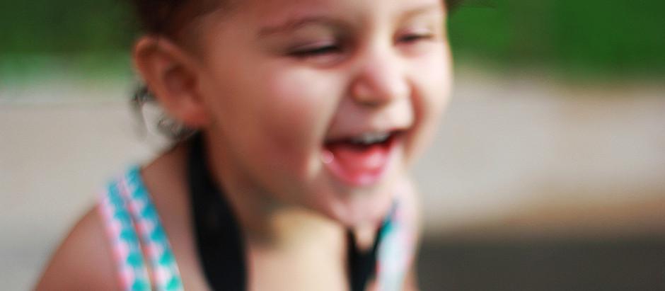 La risa de un niño.