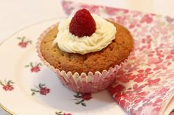 Raspberry & White Chocolate Cupcake
