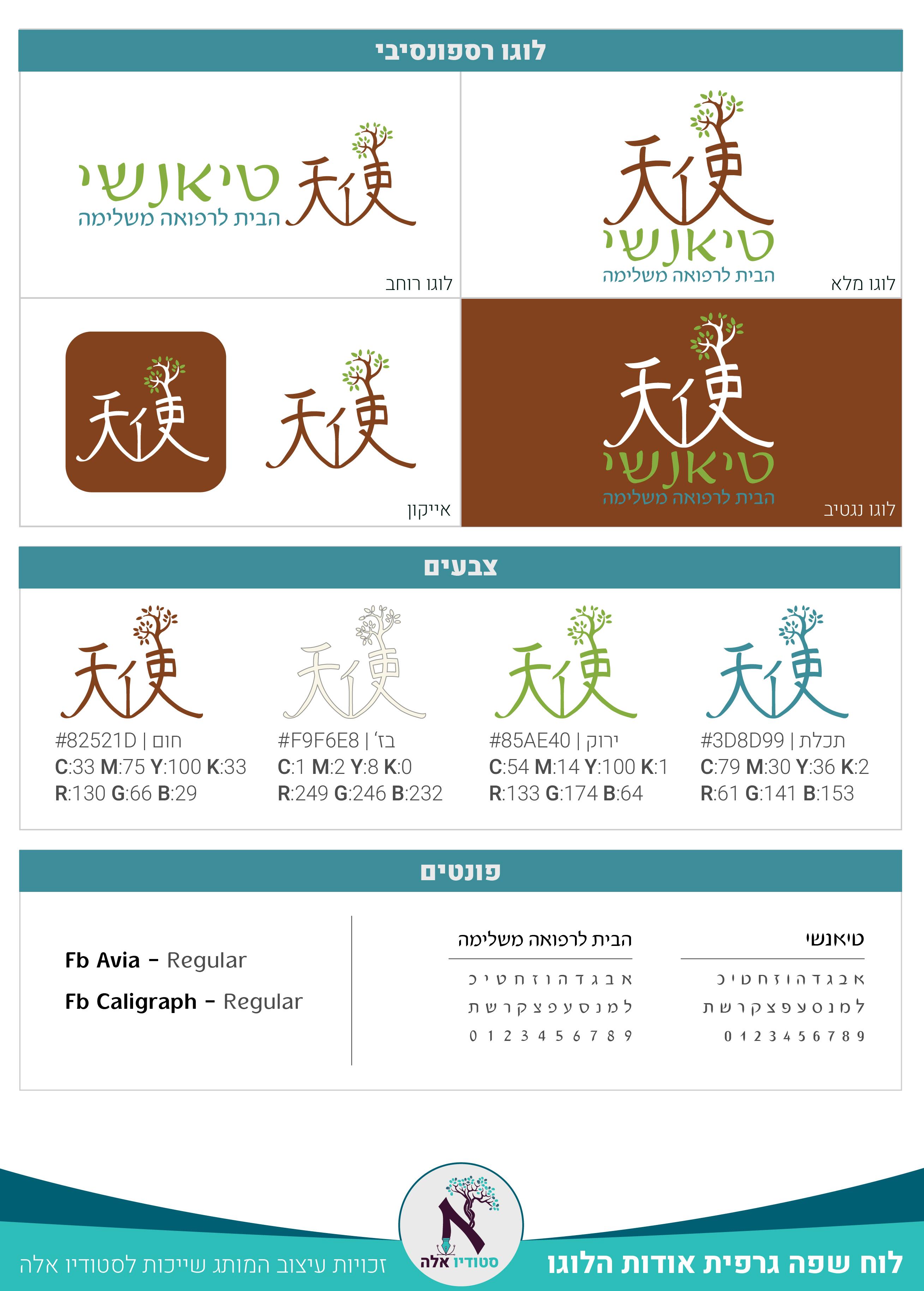 לוח שפה גרפי - מותג טיאנשי