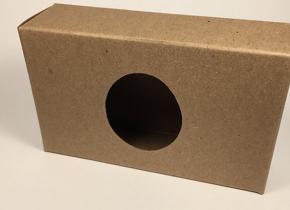 """Caja """" de cartón para jabones con ventana. Natural"""