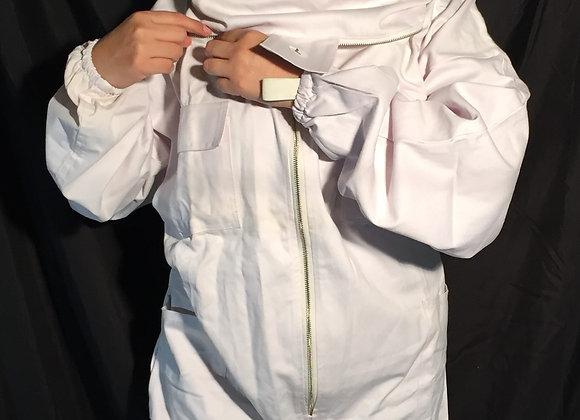 Traje unisex blanco de tela de algodón gruesa especialmente diseñado para el uso