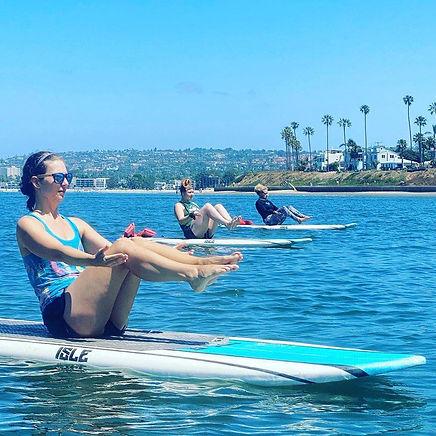 San Diego SUP Pilates Class