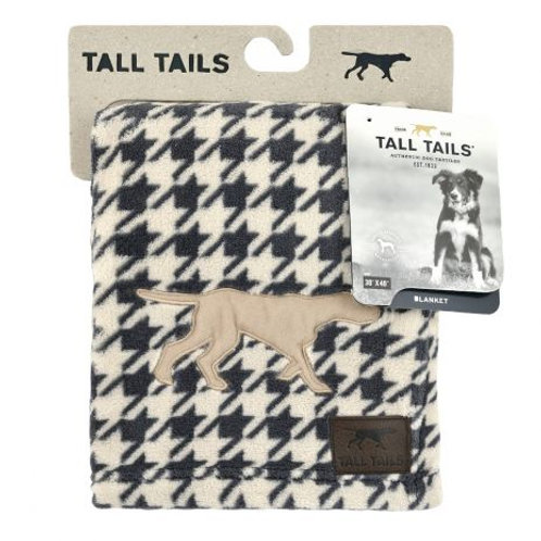 "Tall Tails Dog Blanket 40"" x 60"" Grey Houndstooth"