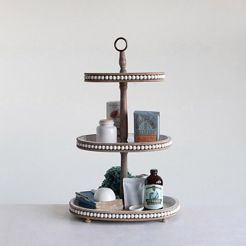 Three Tier Wood Tray