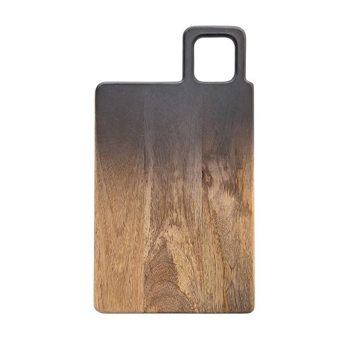 Mango Wood Black/Natural Ombre Cutting Board
