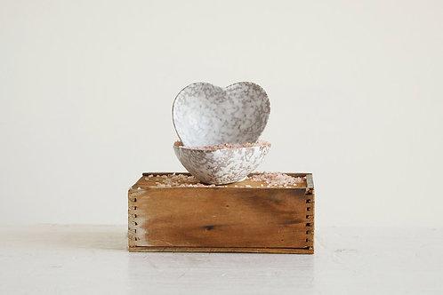 Heart Shaped Stoneware Dish