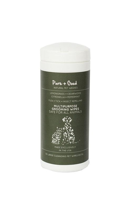 Pure + Good Flea & Tick Wipes 50 Count (Fragrance Free)