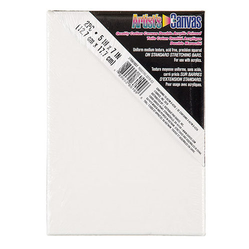Stretched Canvas White 5 x7  (2 Pack)