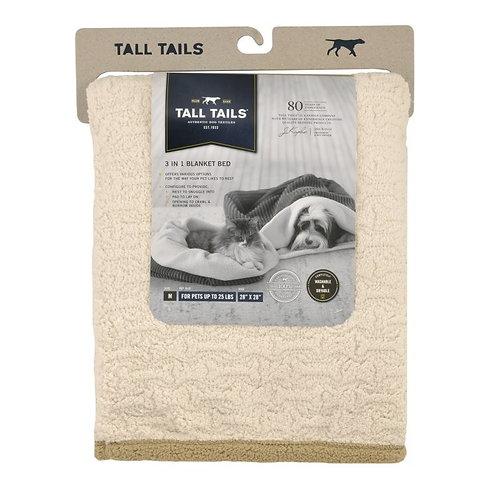 "Tall Tails Dog Blanket 40"" x 60"" Cream Sherpa"
