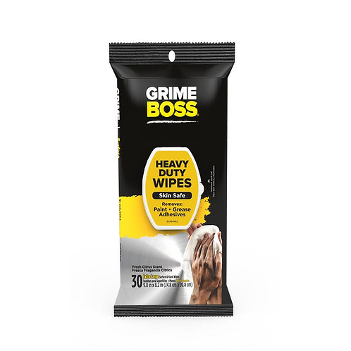 Grime Boss Hand Wipes 30 Count