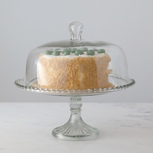 Glass Cake Dome With Stand