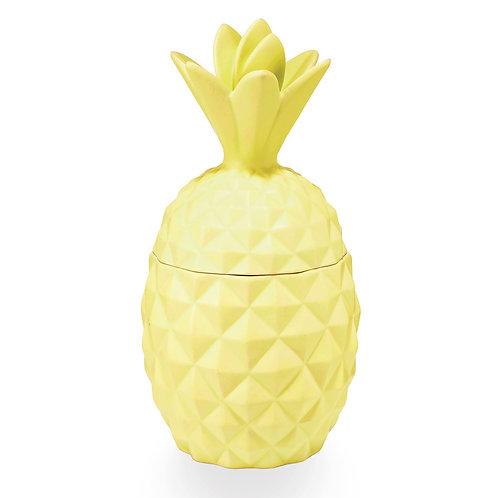 Essentials Candle In Ceramic Pineapple Jar