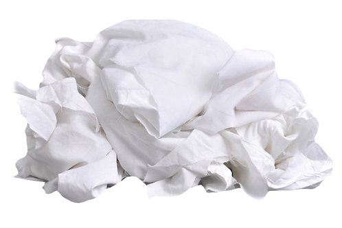 White Cotton Lint Free Wiping Rags