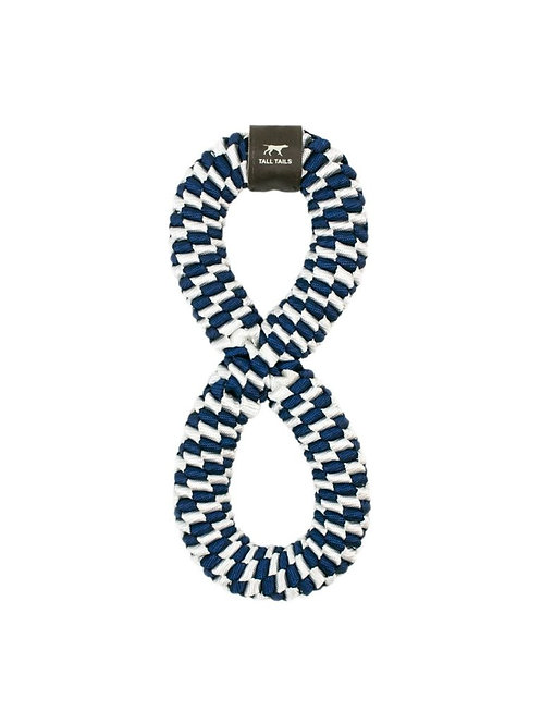 Tall Tails Navy Braided Infinity Toy