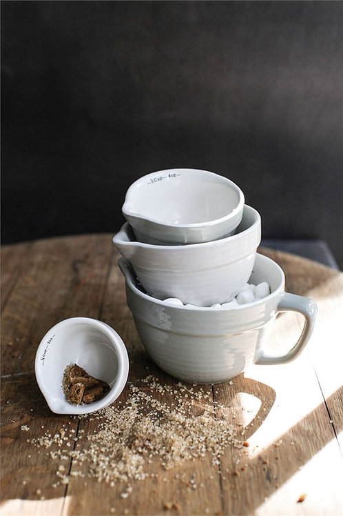 Measuring Cup Set Ceramic Neutral Shades
