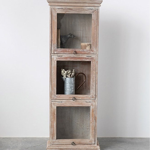 Wood Cabinet With Glass Doors