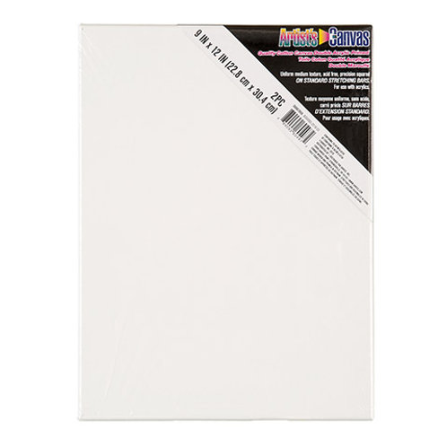 Stretched Canvas White 9 x12  (2 Pack)