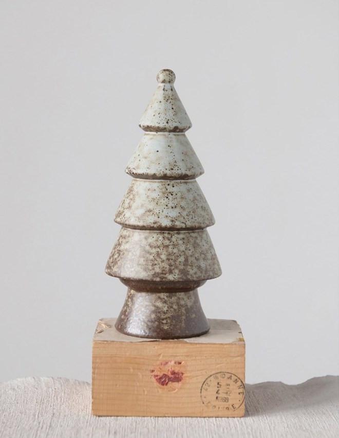 Ceramic Tree With Reactive Glaze