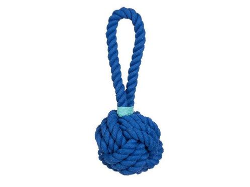"Jax & Bones Large Knot Toy Blue 4.5"""